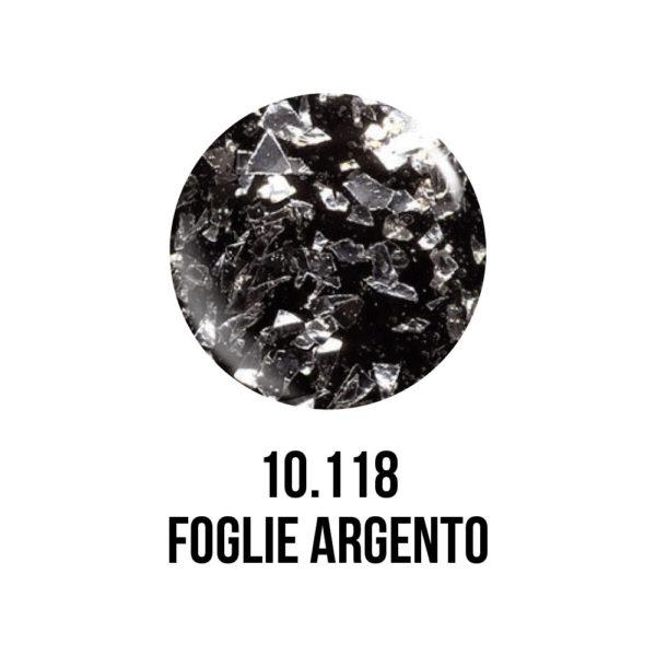 smalto gel semipermanente shellac Foglie D'Argento
