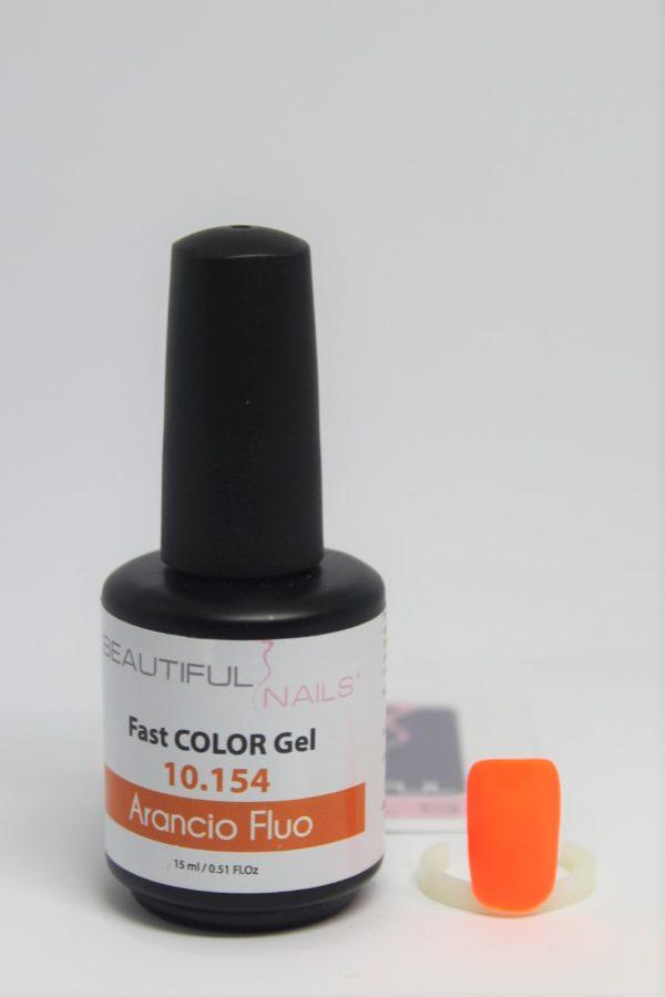smalto gel semipermanente shellac arancio fluo