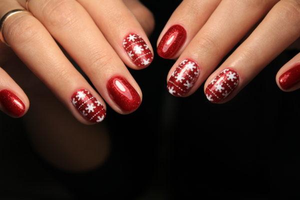 smalto gel semipermanente shellac Rosso Natale