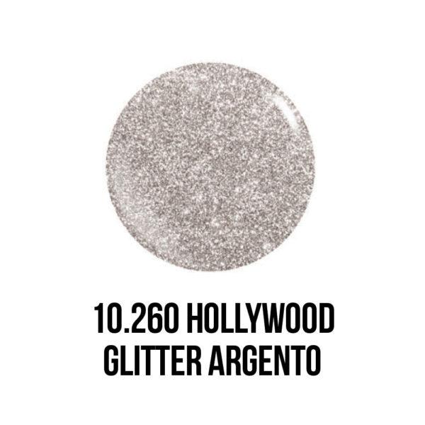 smalto gel semipermanente shellac Hollywood Glitter Argento