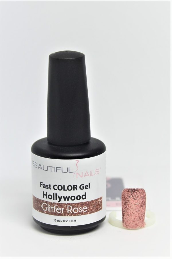 smalto gel semipermanente shellac Hollywood Glitter Rosa