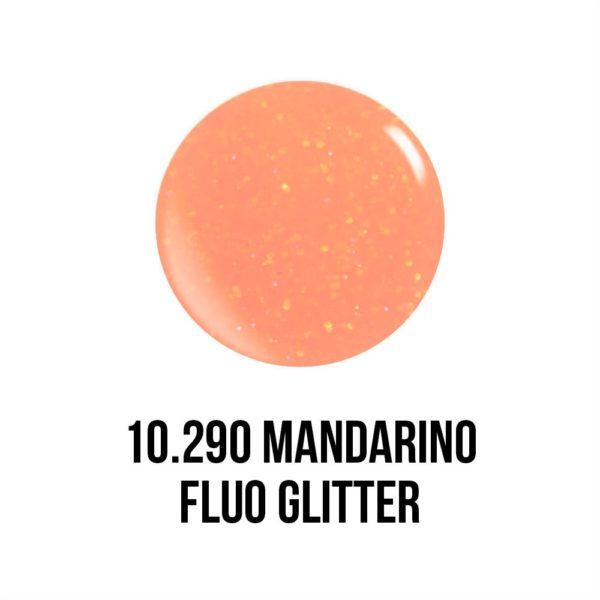 smalto gel semipermanente shellac Mandarino Fluo Glitter