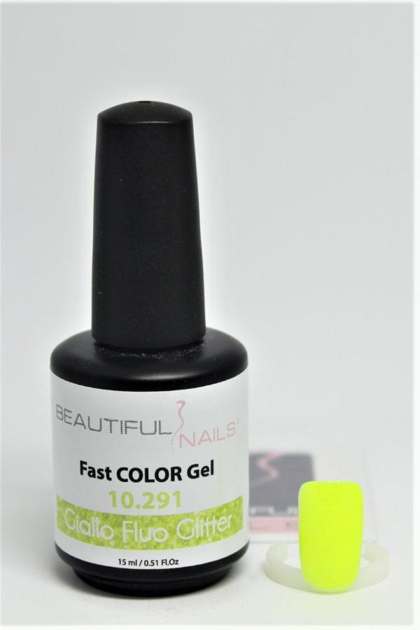 smalto gel semipermanente shellac Giallo Fluo Glitter