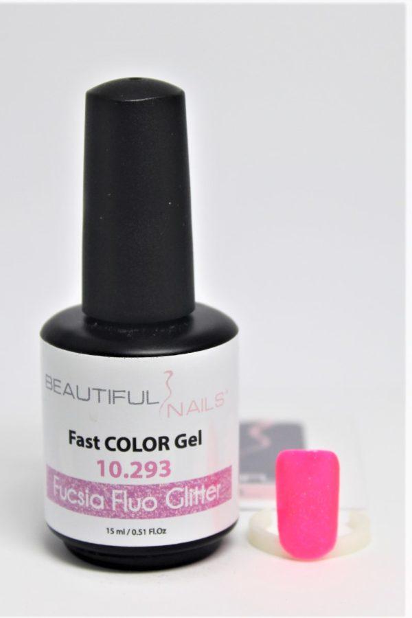 smalto gel semipermanente shellac Fucsia Fluo Glitter