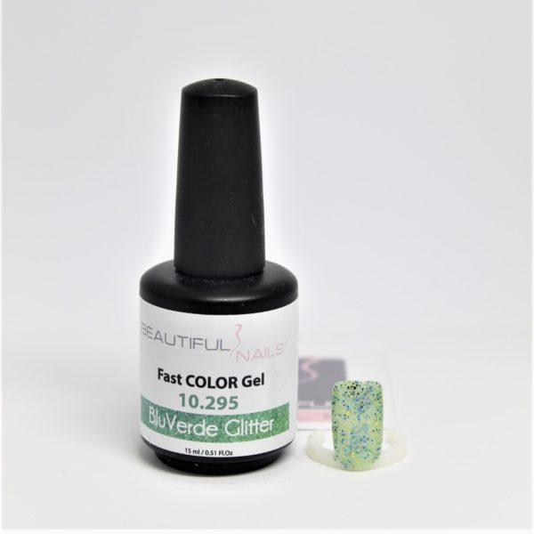 smalto gel semipermanente shellac Blu/Verde Glitter