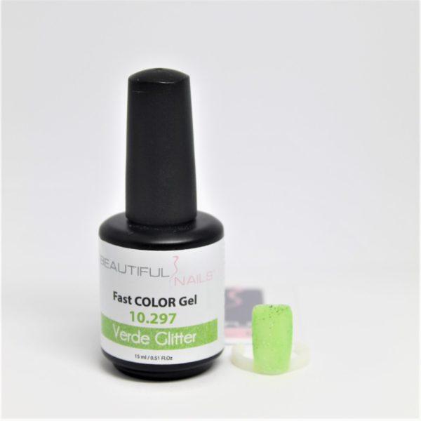 smalto gel semipermanente shellac Verde Glitter