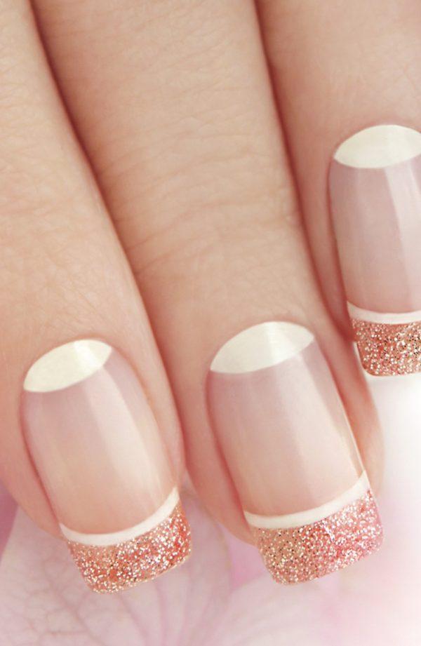 smalto gel semipermanente shellac Oro/Rosa Glitter