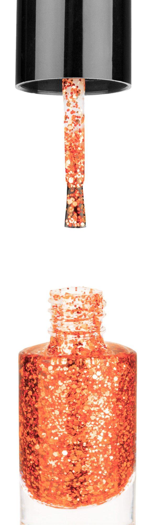 Smalto semipermanente Arancio Glitter