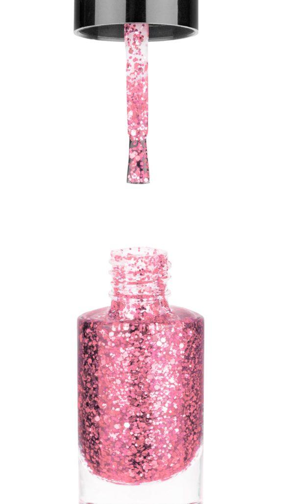 Smalto semipermanente Rosa Glitter