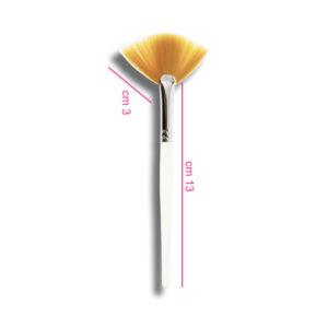 Pennello sintetico per maschere a ventaglio